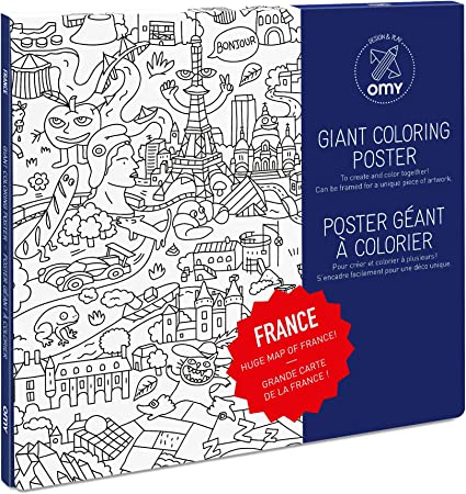 LARGE Coloriage Giant Coloring Poster