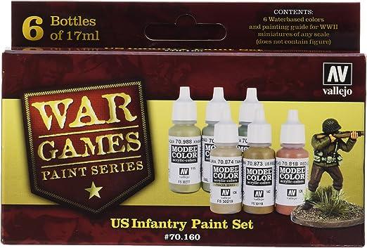 ToyCentre Vallejo Model Color Set - WWII Wargames - US Paint Set - VAL70160: Amazon.es: Juguetes y juegos
