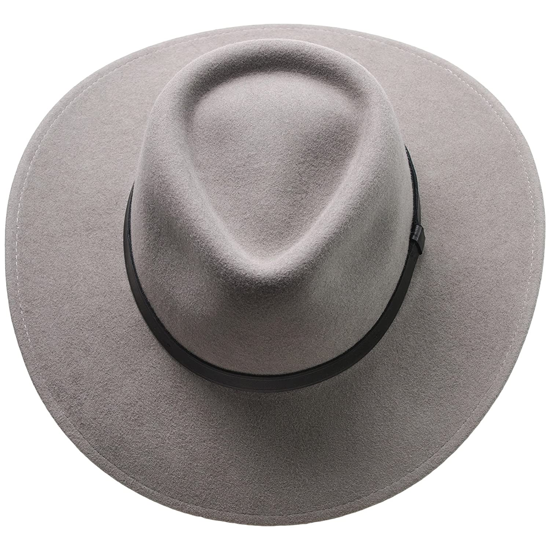 e9531a0301c Sterkowski Sharps Wool Felt Wide Brim Fedora Hat US 7 1 2 Grey  Amazon.ca   Clothing   Accessories