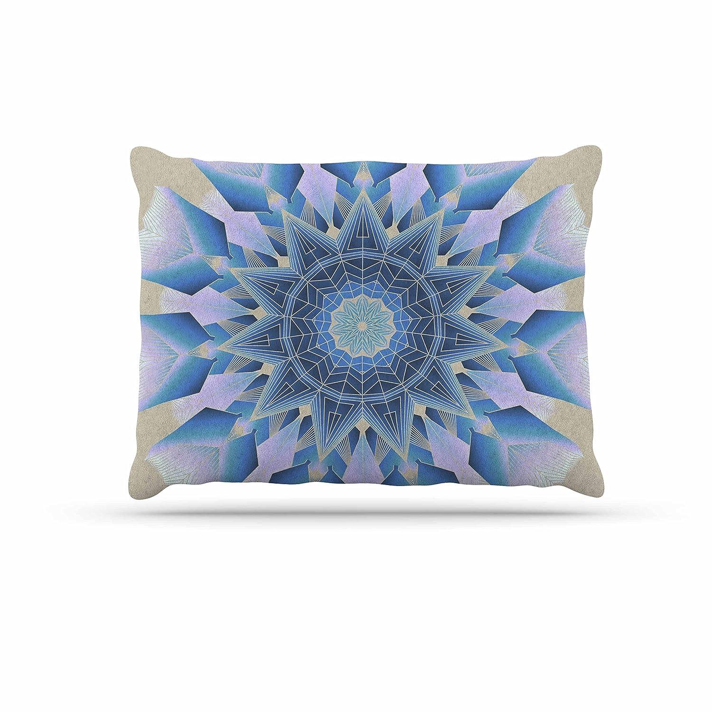 KESS InHouse Angelo Cerantola Waterflowers bluee Digital Dog Bed, 30  x 40
