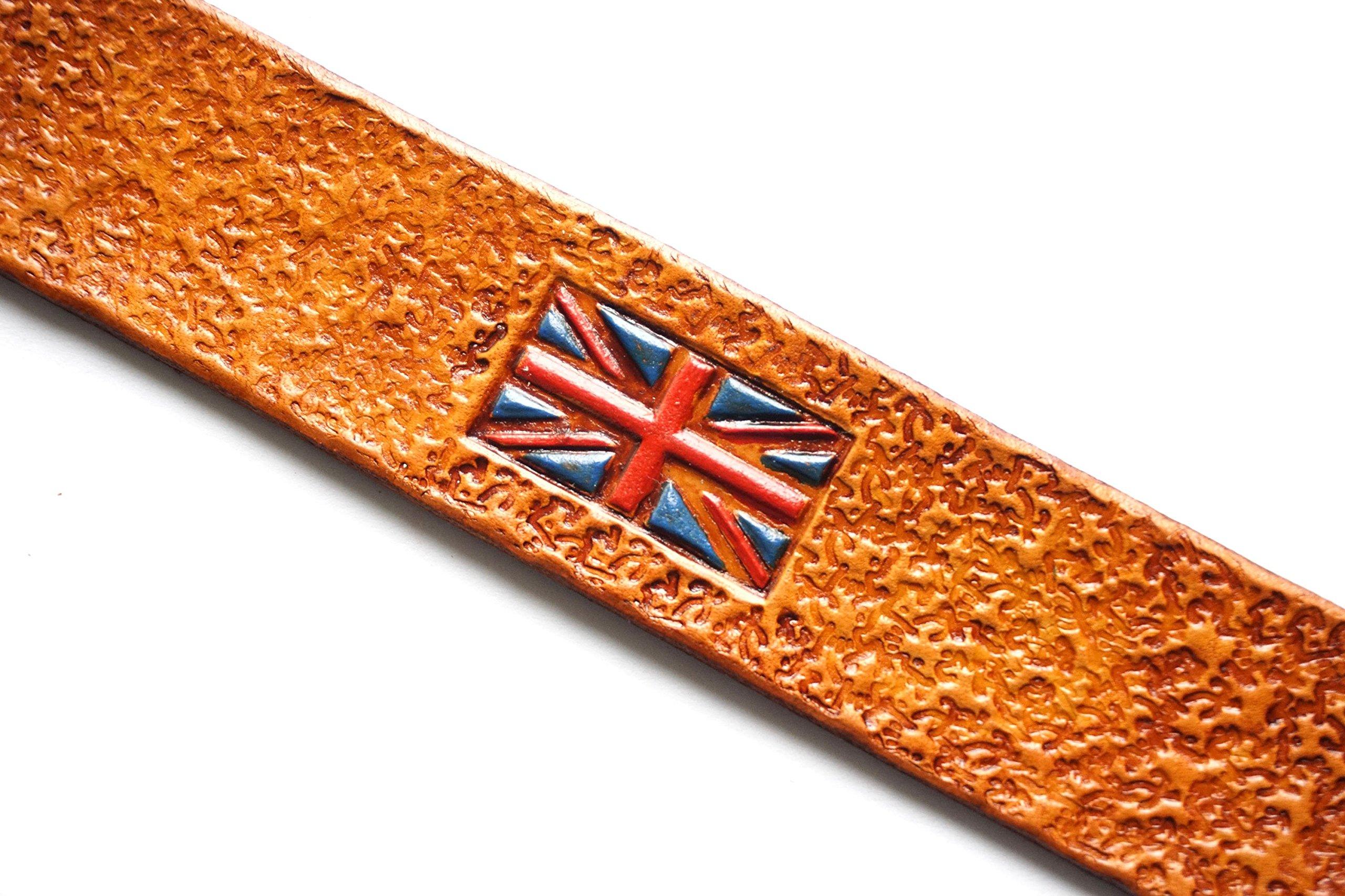 Handmade Leather Bookmark | British Flag
