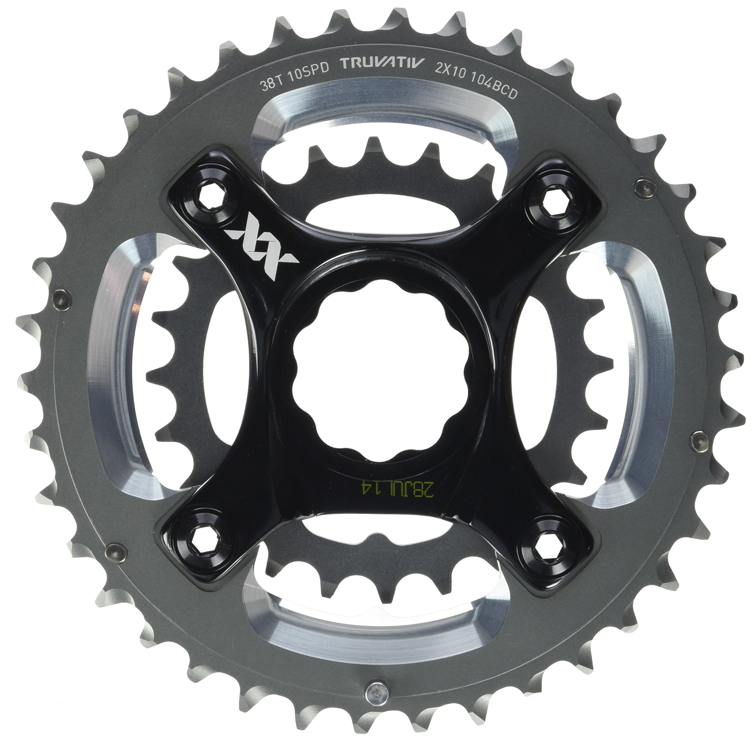 Truvativ Truvativ Crank 10-speed Chainring Set 38-24t with X9 Specialized GXP Spider 49 Chainline 104/64 BCD Chainrings [104 BCD] by Truvativ (Image #2)