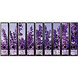 Set di 9 etichette autoadesive per raccoglitori, colore viola