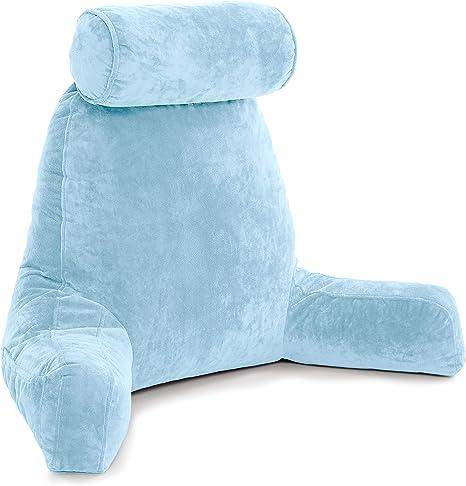 Amazon Com Husband Pillow Sky Blue Big Backrest Reading Bed