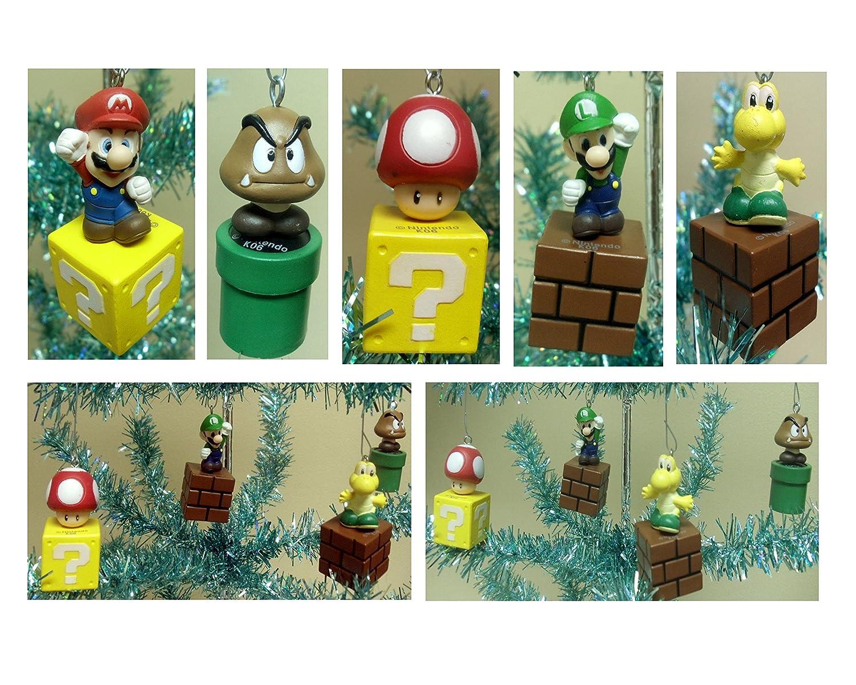 Amazon.com: Nintendo Super Mario Brothers 5 Piece Game Scene ...