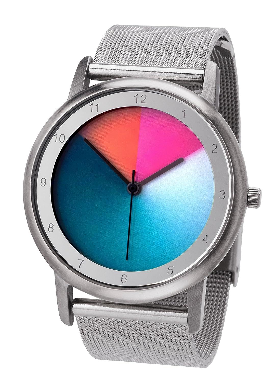 Avantgardia classic (NEUES DESIGN) – Rainbow e-motion of color Unisex Armbanduhr EdelstahlgehÄuse