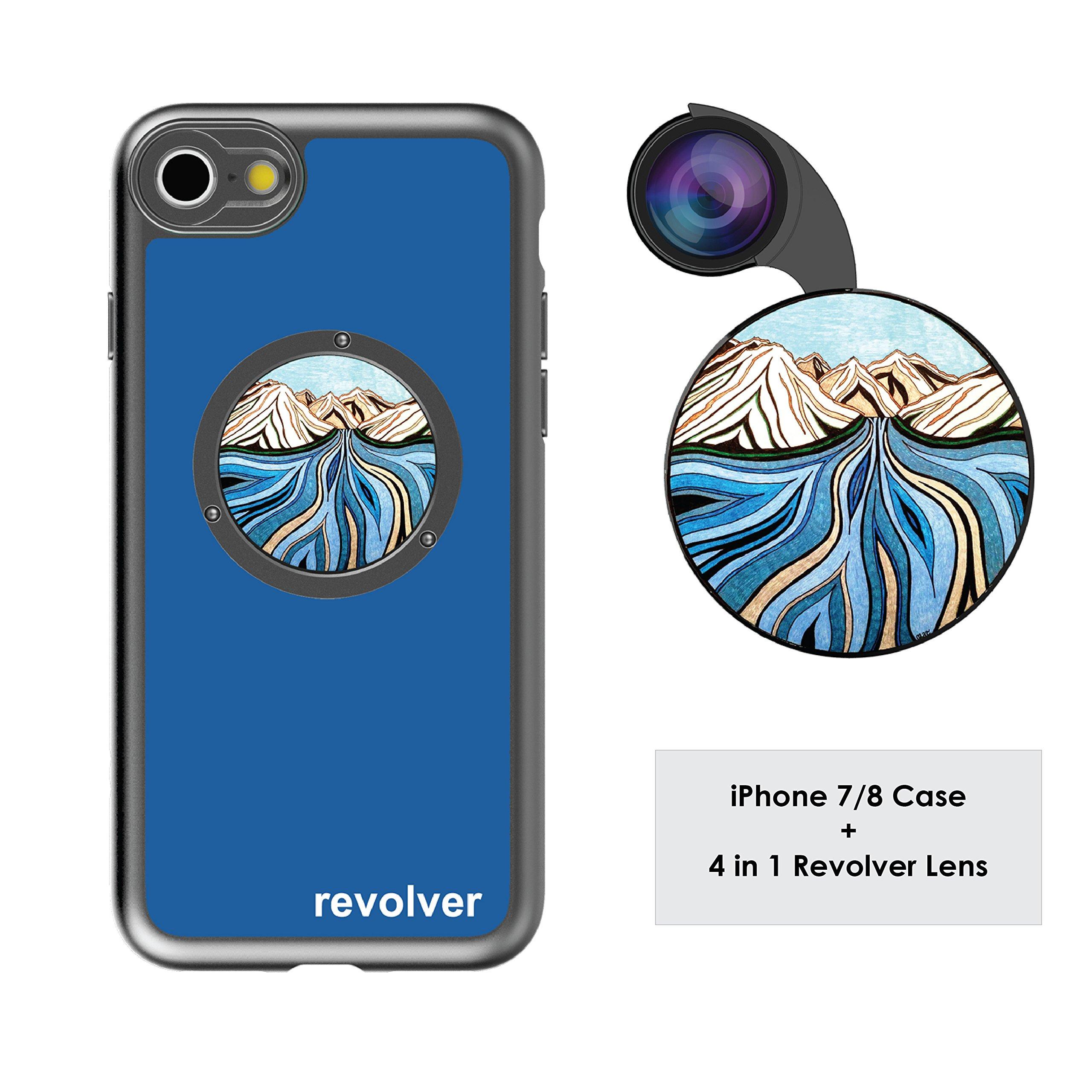 Funda y 4  Lentes Ztylus Revolver p/ iPhone 7/8 - Glacial...