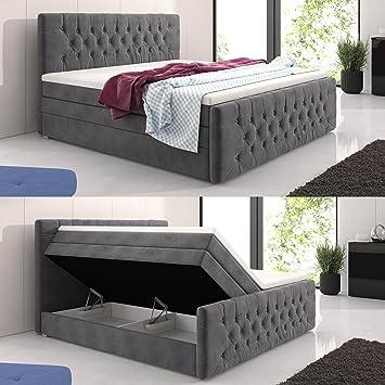 Boxspringbett luxus  Amazon.de: wohnenluxus Boxspringbett 180x200 cm mit Luxus 7-Zonen ...