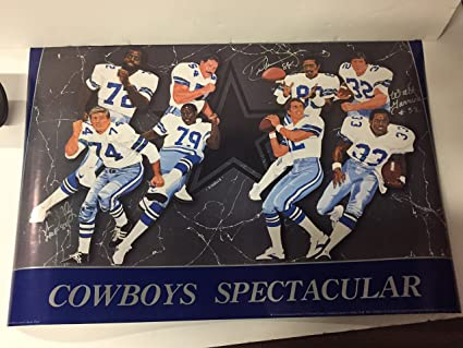 68f0fddc53d Dallas Cowboys Spectacular Poster 20 x 28 Autographed by bob Lilly ...
