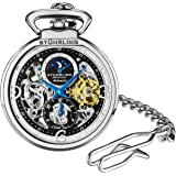Stuhrling Orignal Mens Pocket Watch Automatic Watch Skeleton Watches for Men -Gold Pocket Watch - Mechanical Watch with…