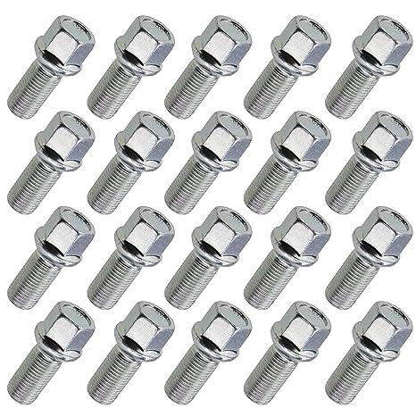 20 Radschrauben Radbolzen Kugelbund M12x1,5 21mm