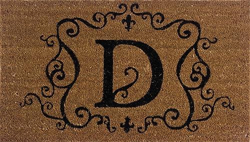 Evergreen 2RM004 Monogram Door Mat, Coir Insert, Letter D, 16-Inches x 28-Inches