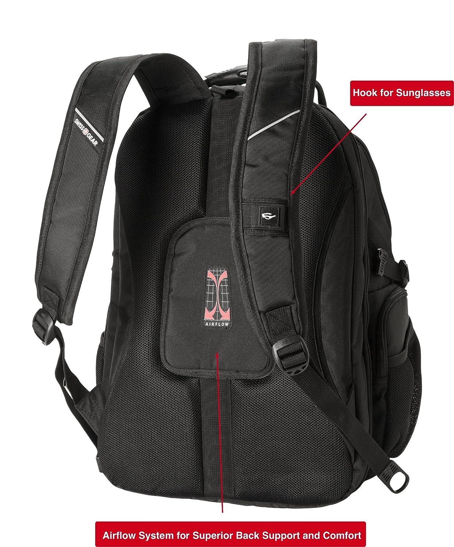 372d5d062c10 SwissGear Backpack Laptop Travel Backpack ScanSmart (Black Grey ...