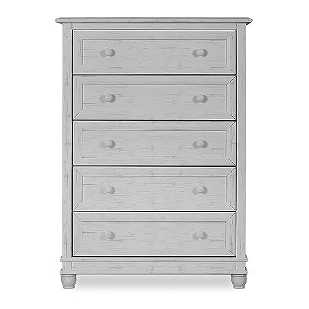 Evolur Hampton 5 Drawer Dresser in Vintage Grey