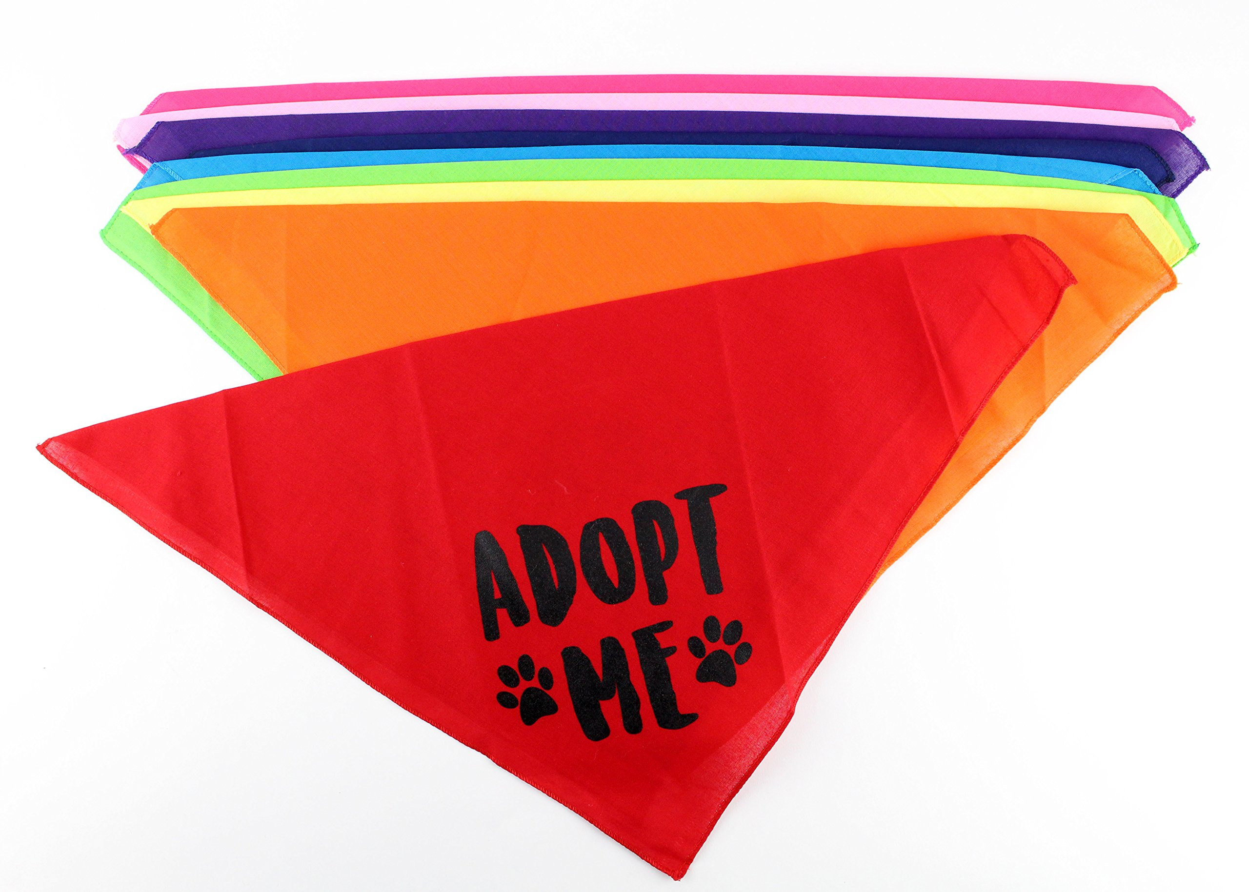 Adopt Me Dog Bandana- Pack of 4 Assorted Colors by Midlee (Large)