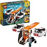 LEGO Creator 3in1 Drone Explorer Building Blocks for Kids 6 to 12 Years (109 Pcs) 31071 (Multi Color)