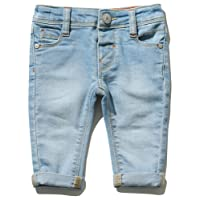 M&Co Baby Boy Cotton Stretch Light Wash Button Fastening Slim Fit Denim Jeans