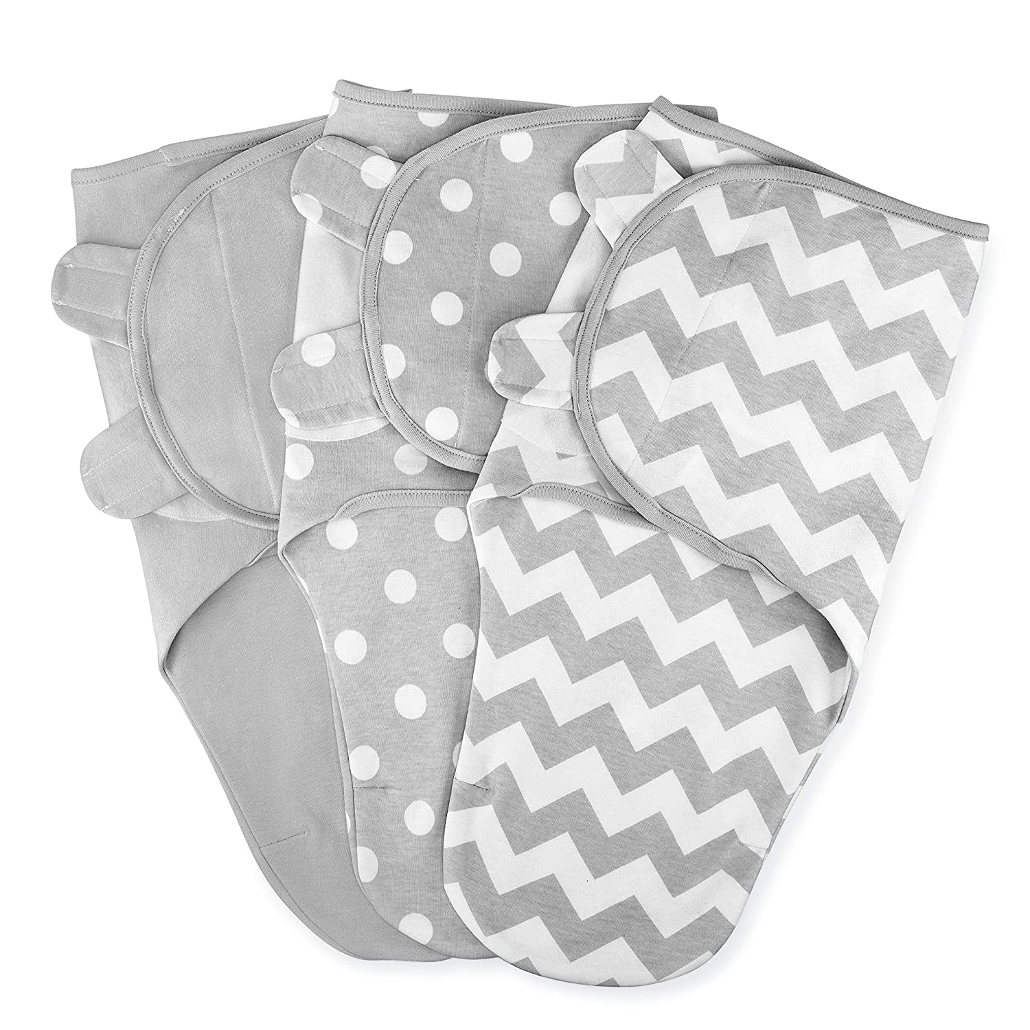 Comfy Cubs Swaddle Blanket Baby Girl Boy Easy Adjustable 3 Pack Infant Sleep Sack Wrap Newborn Babies