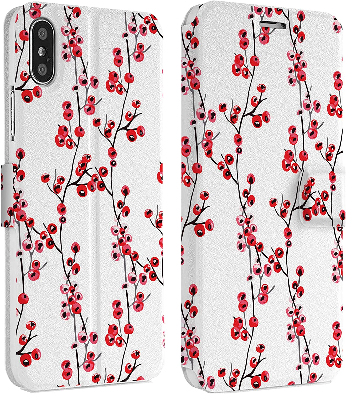 Wonder Wild Almond Blossoms IPhone Wallet Case X//Xs Xs Max Xr 7//8 Plus 6//6s Plus Card Holder Accessories Smart Flip Hard Design Protection Cover Van Gogh Famous Painting Art Museum Retro Floral New
