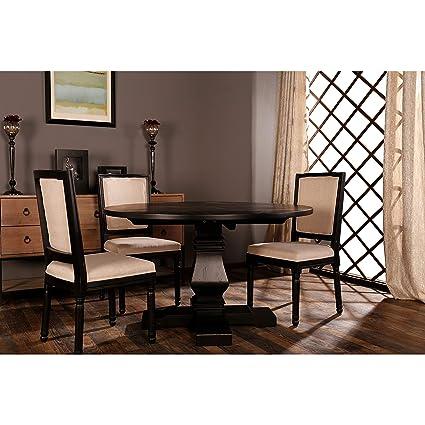 Amazon Com Sofamania Classic Rustic Style Round Dining Room