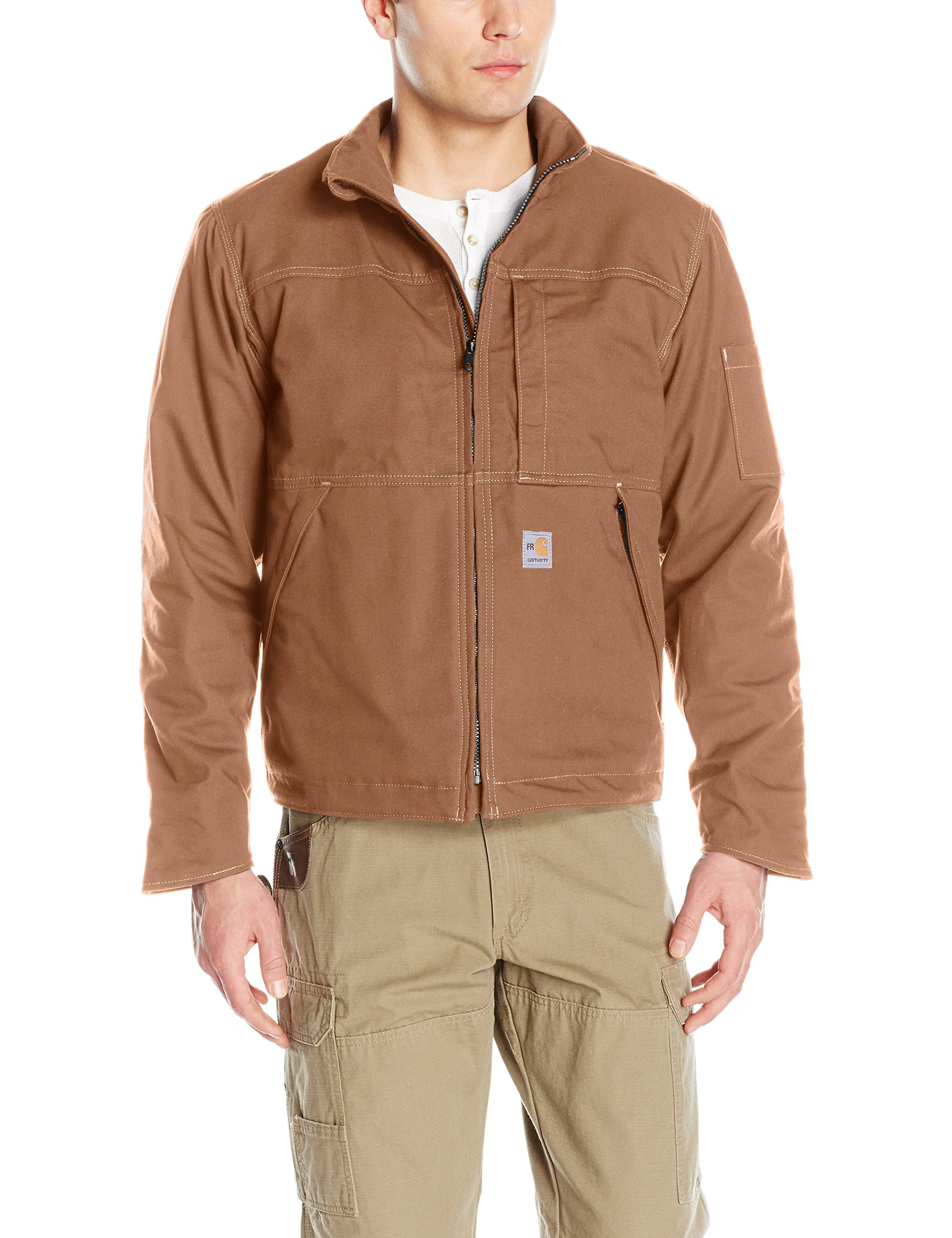 Carhartt Men's Flame Resistant Full Swing Quick Duck Jacket, Brown, Medium by Carhartt