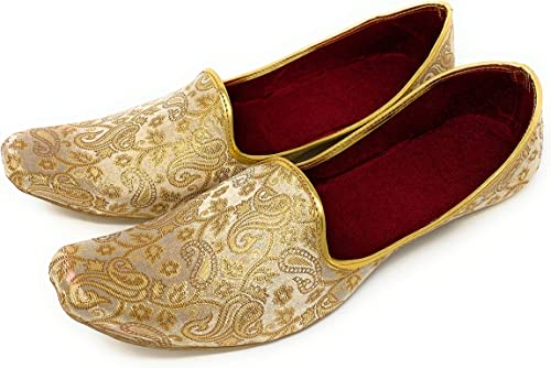 Amazon Com Bombayflow Men S Punjabi Jutti Khussa Majori Indian