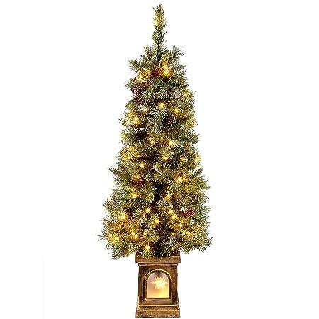 WeRChristmas Pre-Lit Scandinavian Blue Spruce Christmas Tree with 80 Warm  White LED Lights, 4 feet/1.2 m - Green: Amazon.co.uk: Kitchen & Home - WeRChristmas Pre-Lit Scandinavian Blue Spruce Christmas Tree With 80