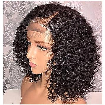 Full Lace Wig Human Hair Short Bob Wigs for Black Women 8A Virgin Brazilian Curly  Short d24c86457687