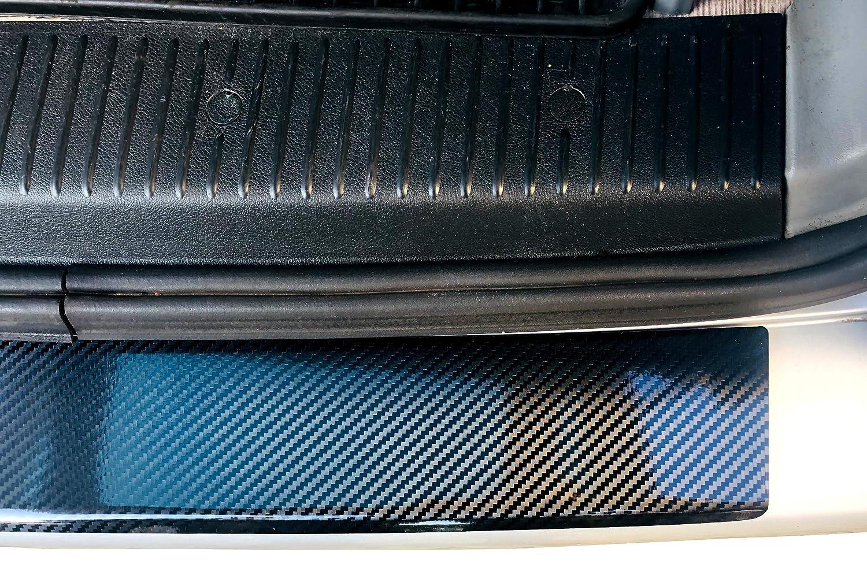 BOMICLAS Ladekantenschutz Sto/ßstangenschutz 5D Carbon auf Aluminium mit Abkantung T5