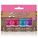 Piggy Paint 4 Pack Kit- Non-Toxic Nail Polish - Safe, Chemical Free…