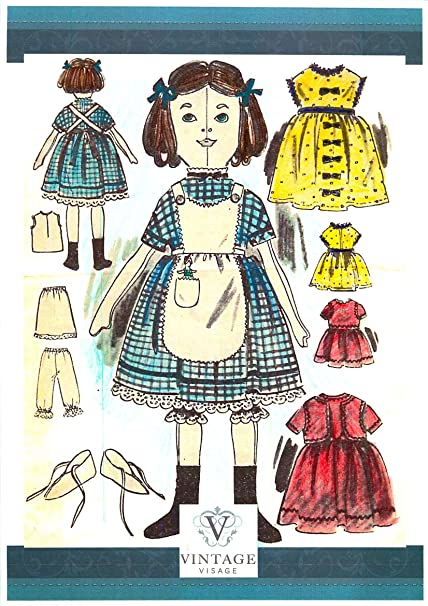 Victorian Rag Doll sewing pattern with full size paper pieces-25 ...