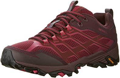 Merrell Women Grey/Orange Moab Fst Hiking Shoe, 12 D(M) US