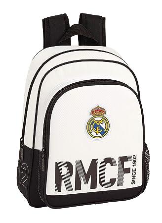 Real Madrid 611854006 2018 Mochila Escolar Pequeña, 28x34x10cm, Blanco