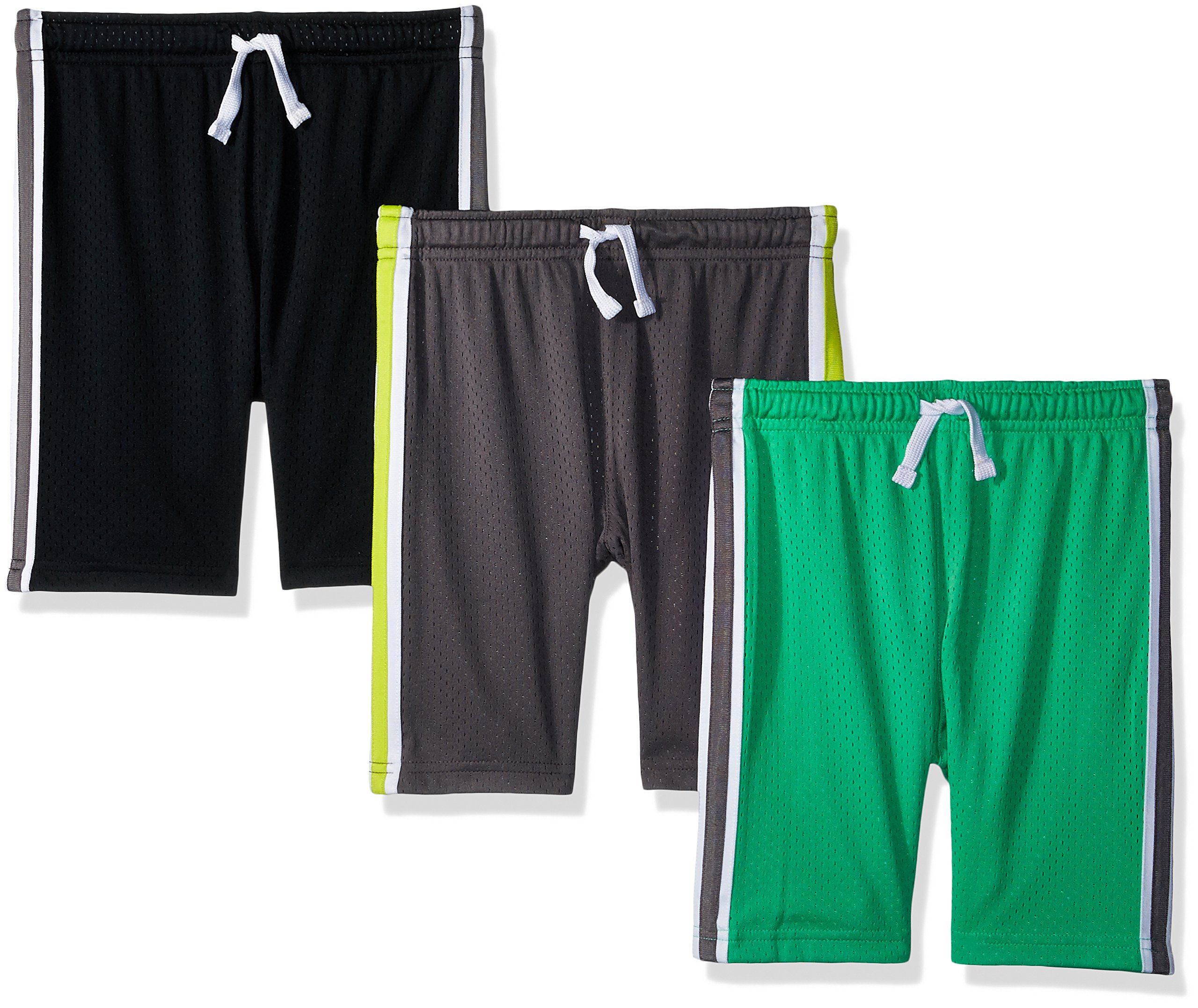 Simple Joys by Carter's Baby Boys' Toddler 3-Pack Mesh Shorts, Black, Green, Gray, 3T by Simple Joys by Carter's