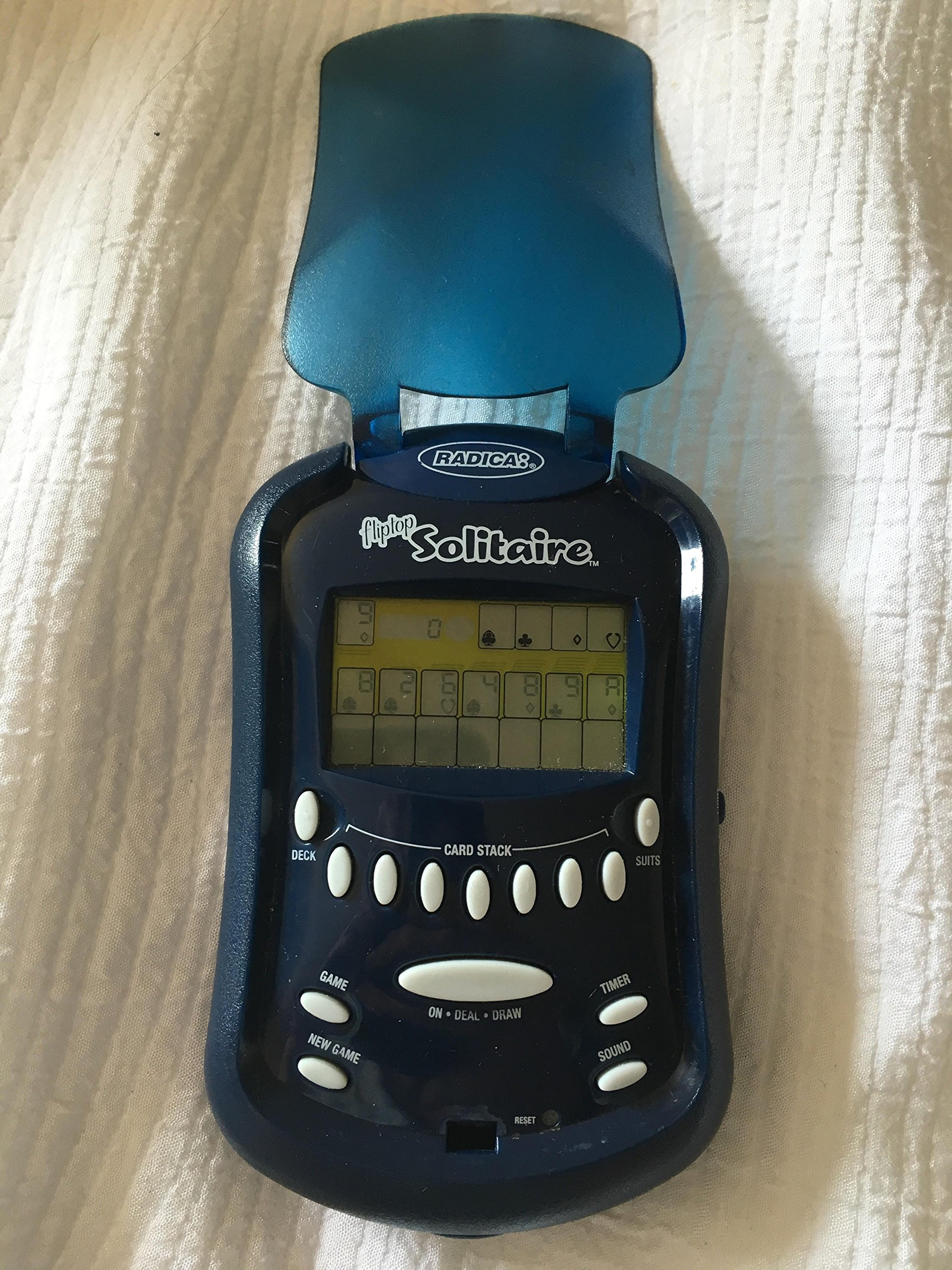 Flip-Top 2 in 1 LIGHTED SOLITAIRE Handheld Game (2006 Edition) by Radica