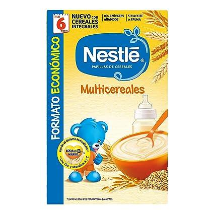 Nestlé Multicereales Papilla de cereales instantánea de fácil disolución - Papillas Para bebés 500 gr