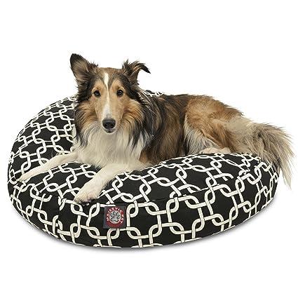 Amazon Com Black Links Medium Round Indoor Outdoor Pet Dog Bed