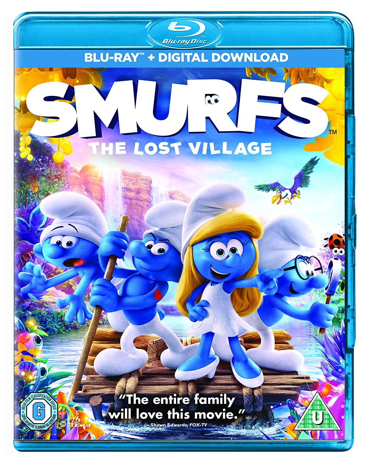 amazon com smurfs the lost village blu ray 2017 region free demi lovato rainn wilson joe manganiello jack mcbrayer danny pudi mandy patinkin dee bradley baker frank welker michelle rodriguez ellie kemper kelly asbury smurfs the lost village blu ray 2017 region free