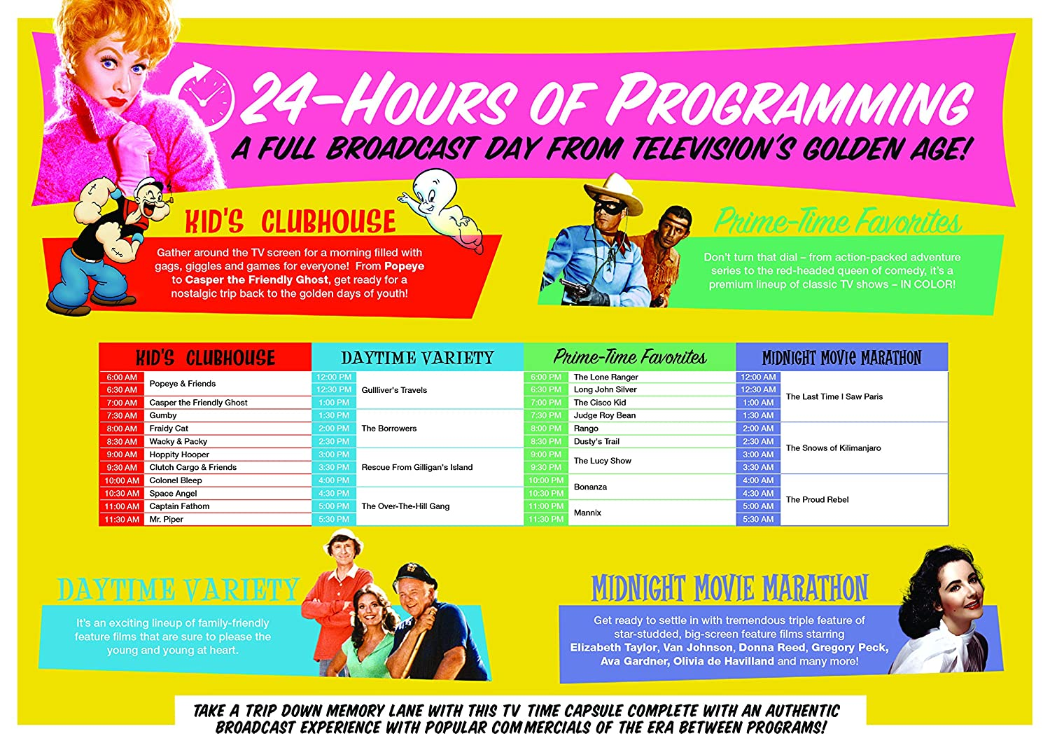 Amazoncom Watch Around The Clock 24 Hours Of Tv In Color