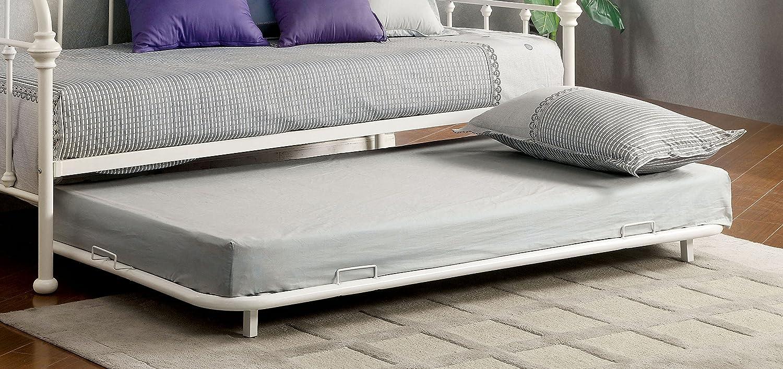 Furniture of America Florian Metal Trundle, Twin, White