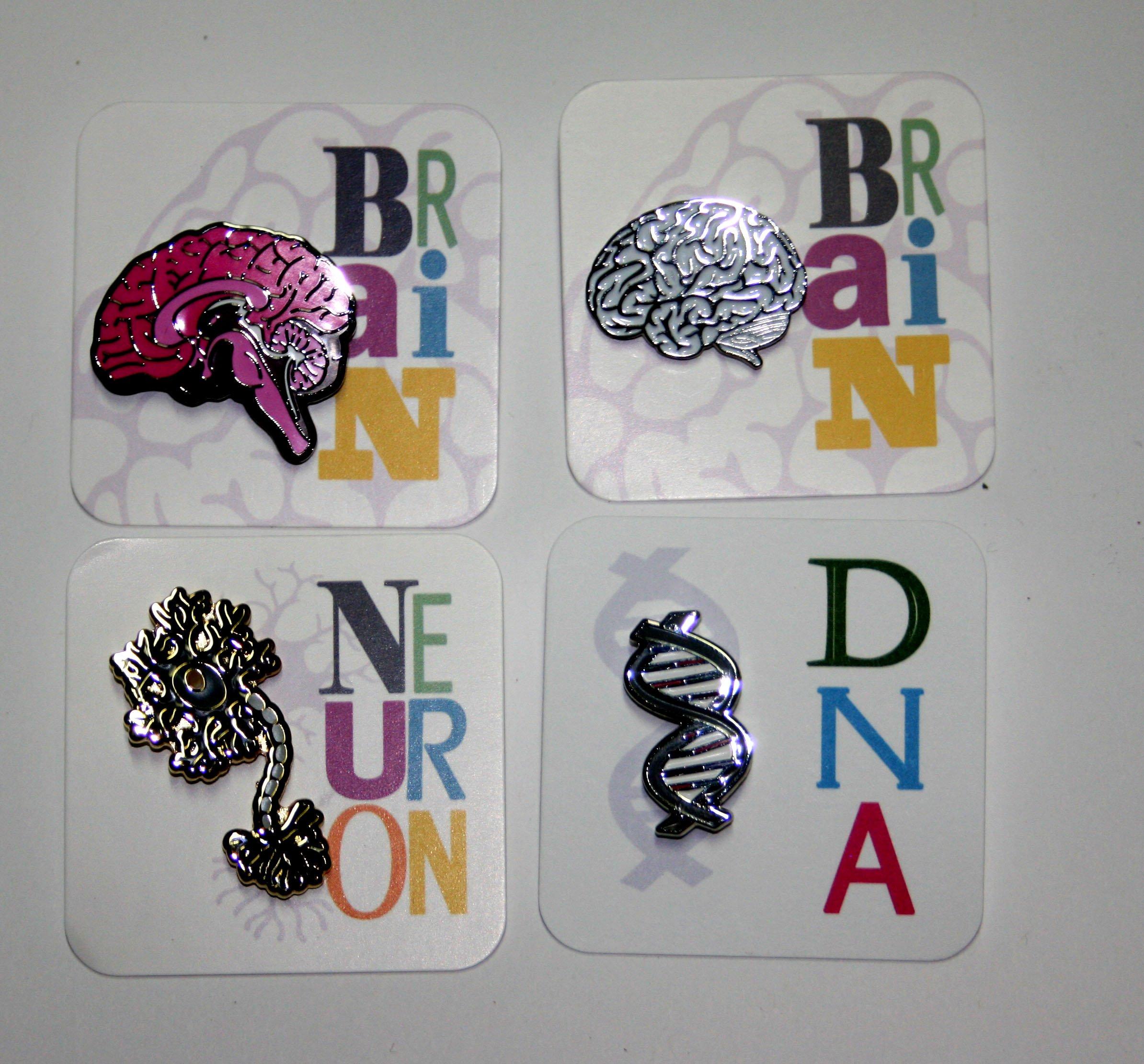 DNA Enamel pin
