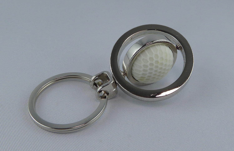 Llavero de Pelota de golf en diseño elegante.: Amazon.es ...