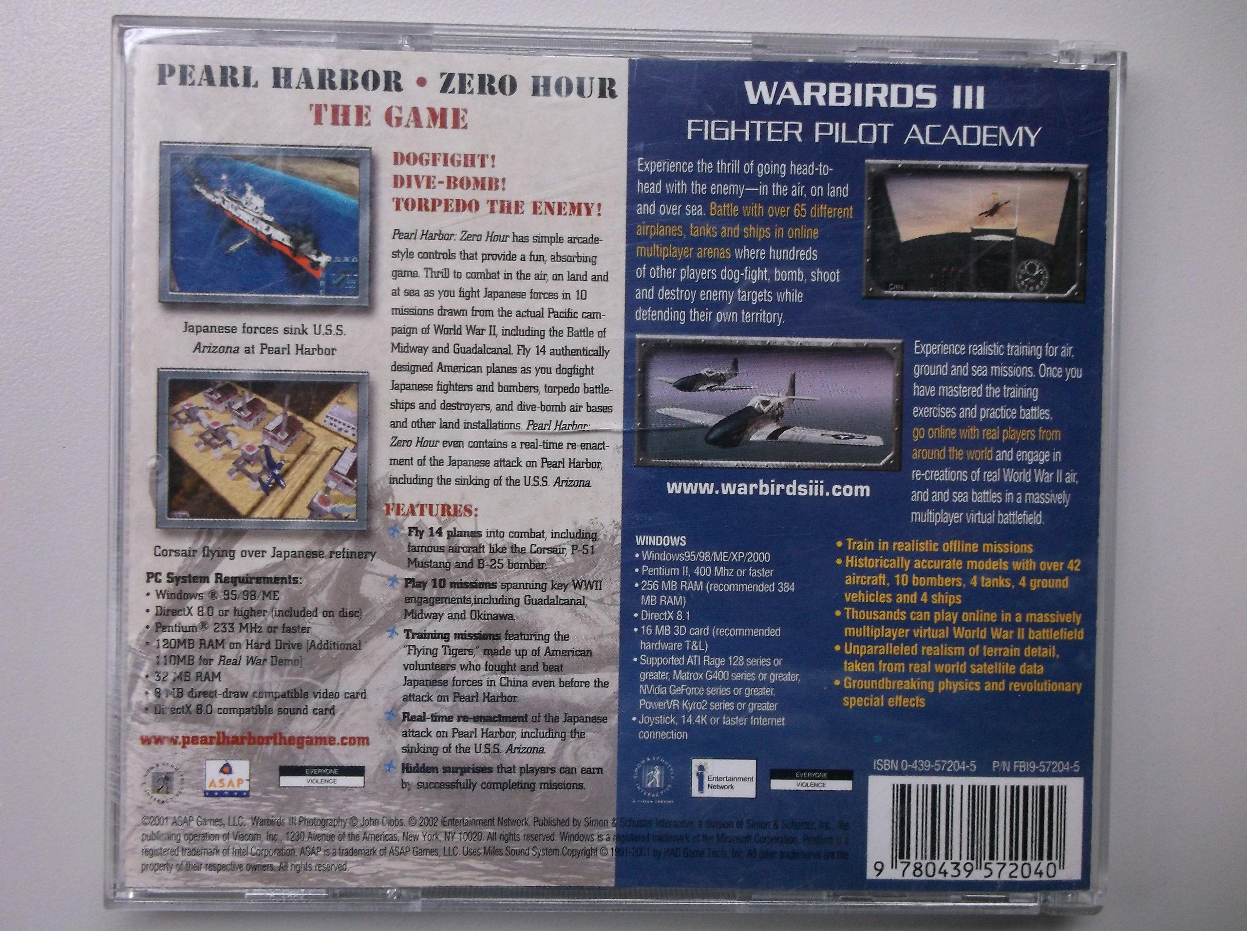 Amazon com: Warbirds III/Pearl Harbor-Zero Hour: Video Games