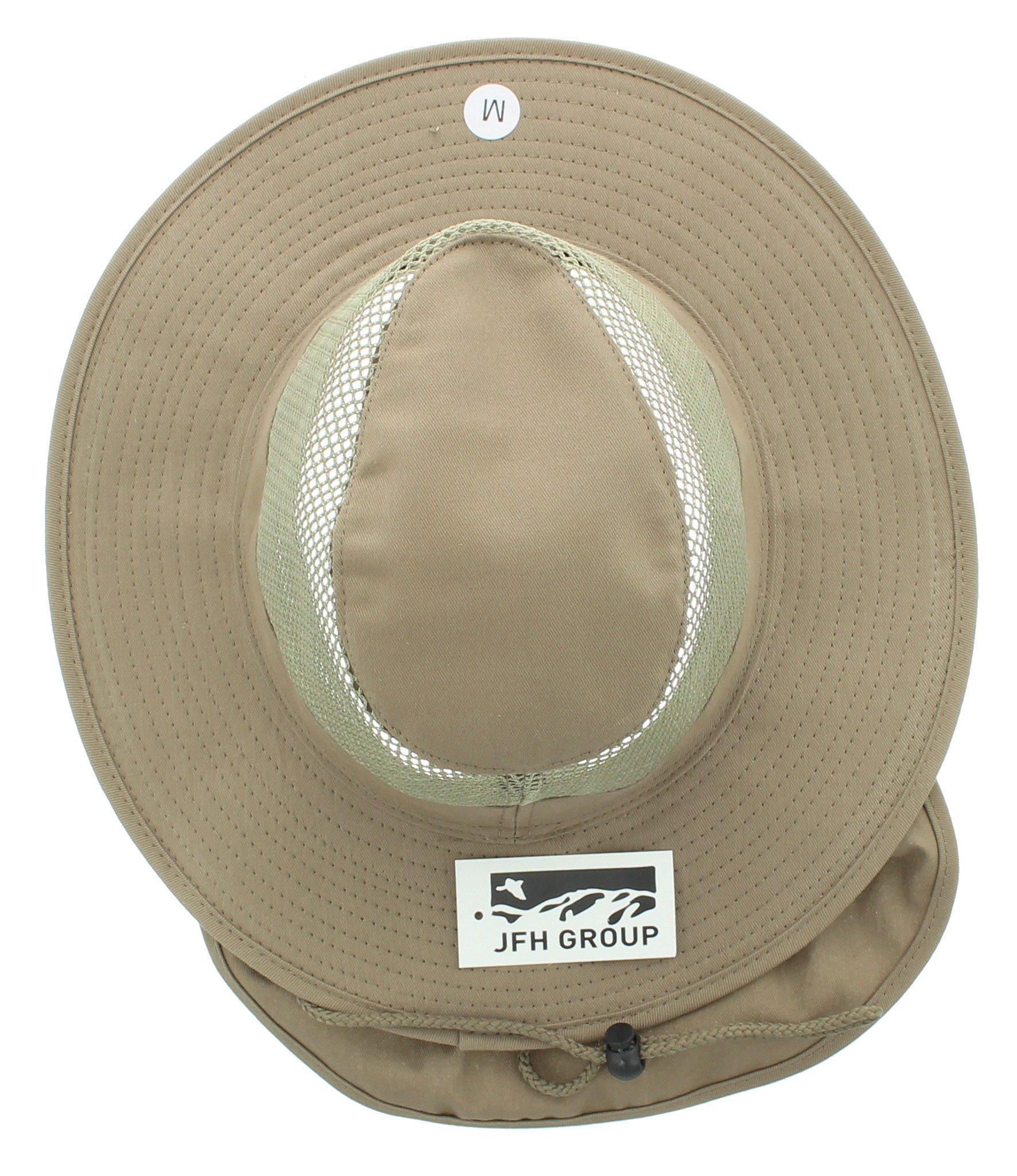 156a339690a3cb Wide Brim Unisex Safari/Outback Summer Hat w/Neck Flap (Extra Large,. Yêu  thích
