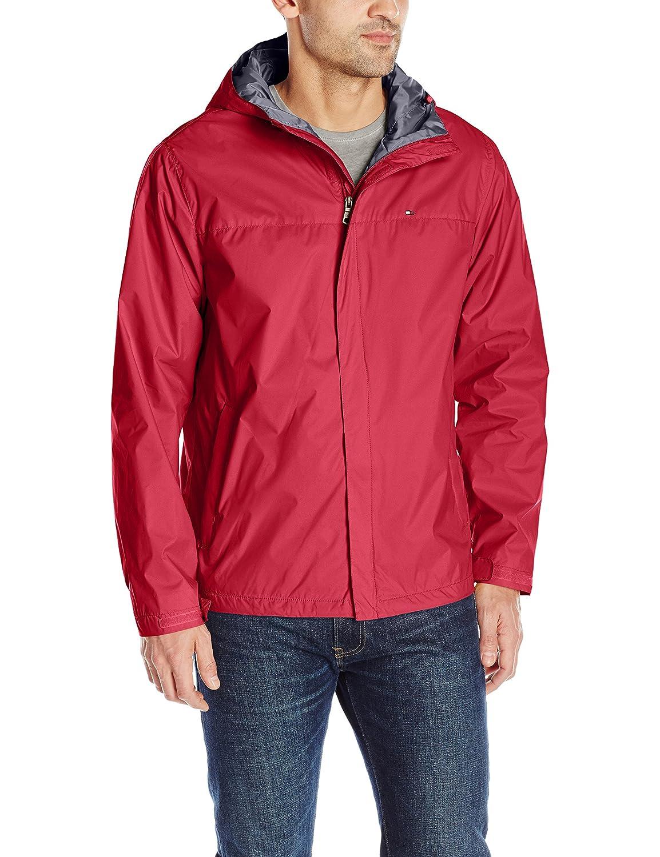 Tommy Hilfiger男性用防水性通気性フード付きジャケット B00YQAFBRW Medium レッド レッド Medium