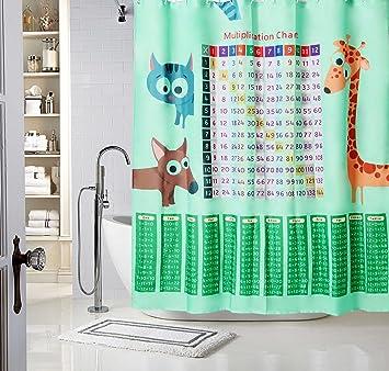ENFANTS Enfant Tissu 100 Polyester De Salle Bain Rideaux Douche Etanche Resistant