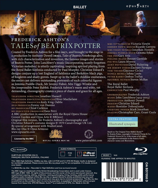 Amazon.com: Frederick Ashtons Tales of Beatrix Potter [Blu-ray]: Victoria Hewitt, Ricardo Cervera, Jonathan Howells, Gemma Sykes, Gary Avis, ...