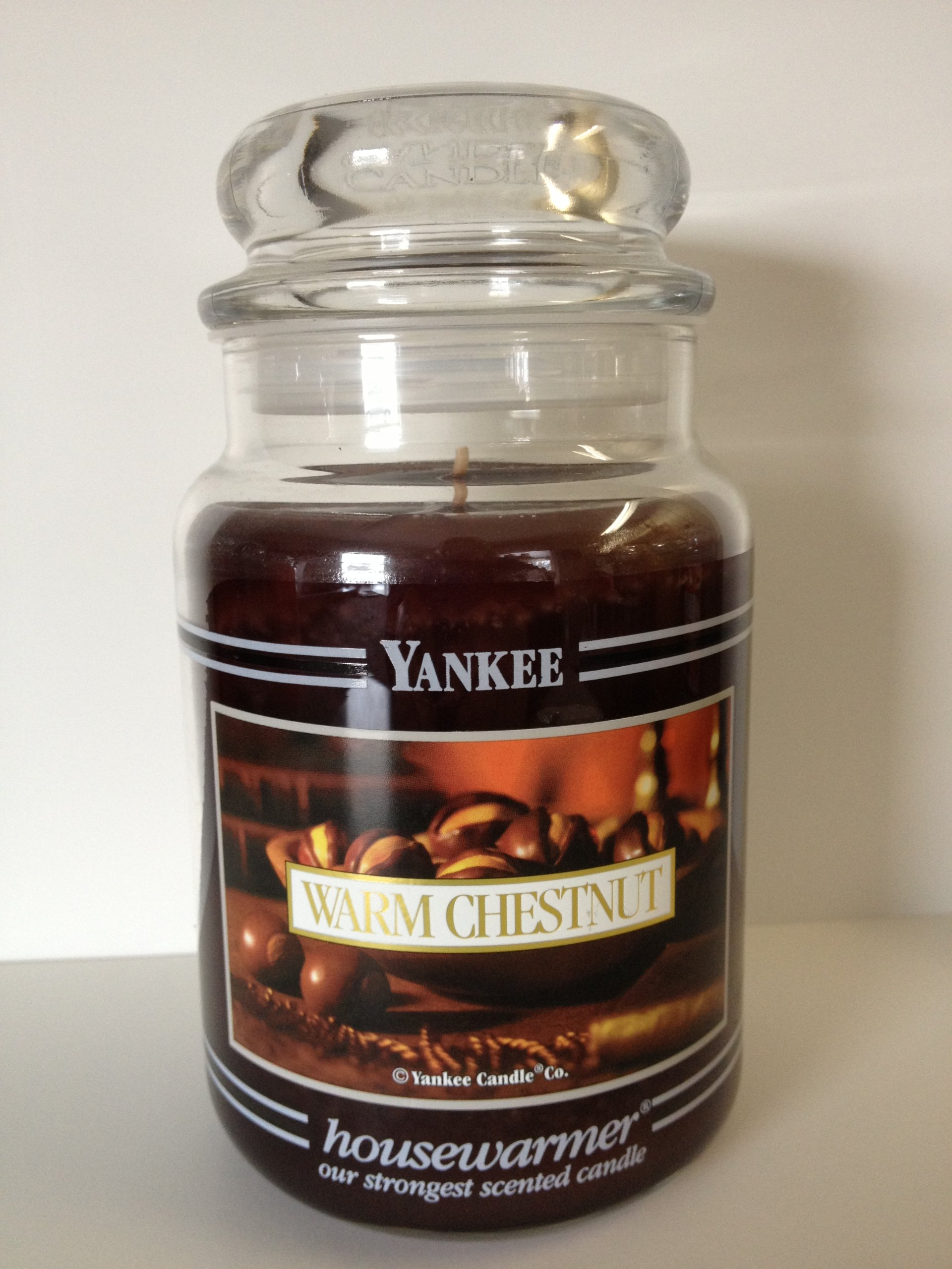 Yankee Candle 22 oz Jar Warm Chestnut Black Bands--VERY RARE!!