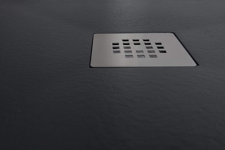 70X150 PLATO DUCHA RESINA EFECTO PIZARRA ANTIDESLIZANTE GRAFITO RAL 7016 ANCHO 70 CMS LARGO HASTA 200 CMS.