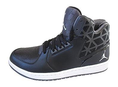 buy popular 0cf24 a4254 Nike Air Jordan 1, Chaussons Montants Homme - Noir - Noir Blanc,